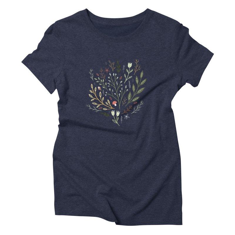 Woodland Walk Women's Triblend T-Shirt by Thistle Moon Artist Shop