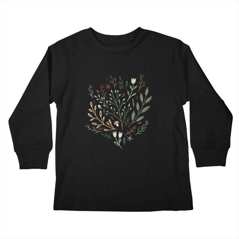 Woodland Walk Kids Longsleeve T-Shirt by Thistle Moon Artist Shop