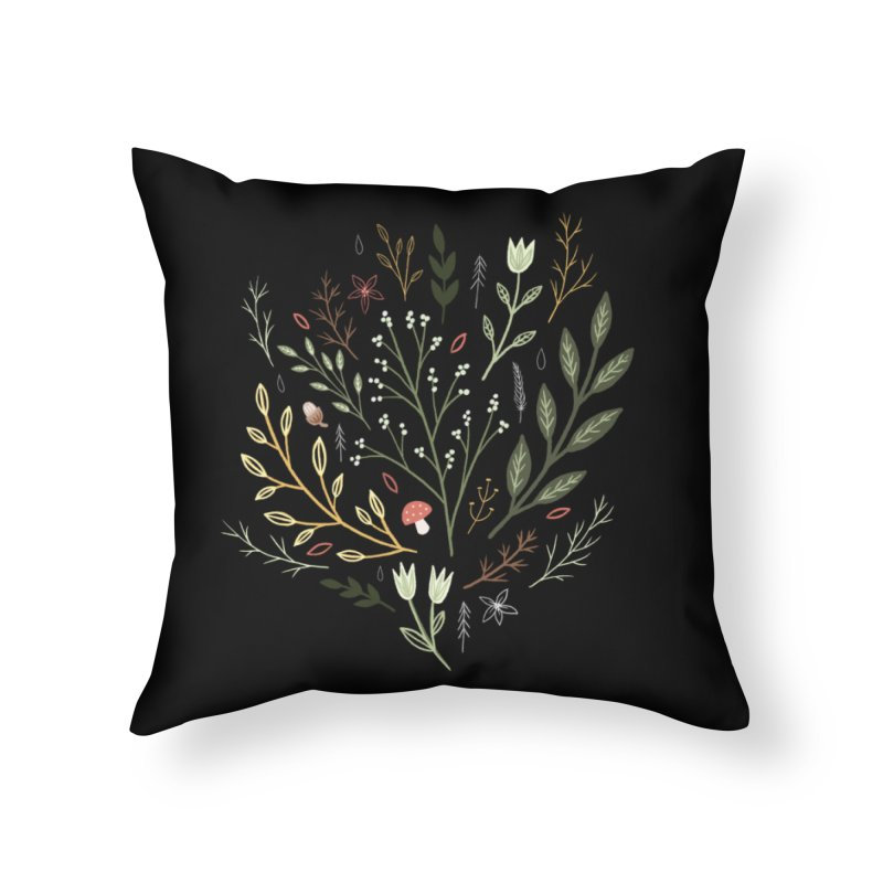 Woodland Walk Home Throw Pillow by Thistle Moon Artist Shop