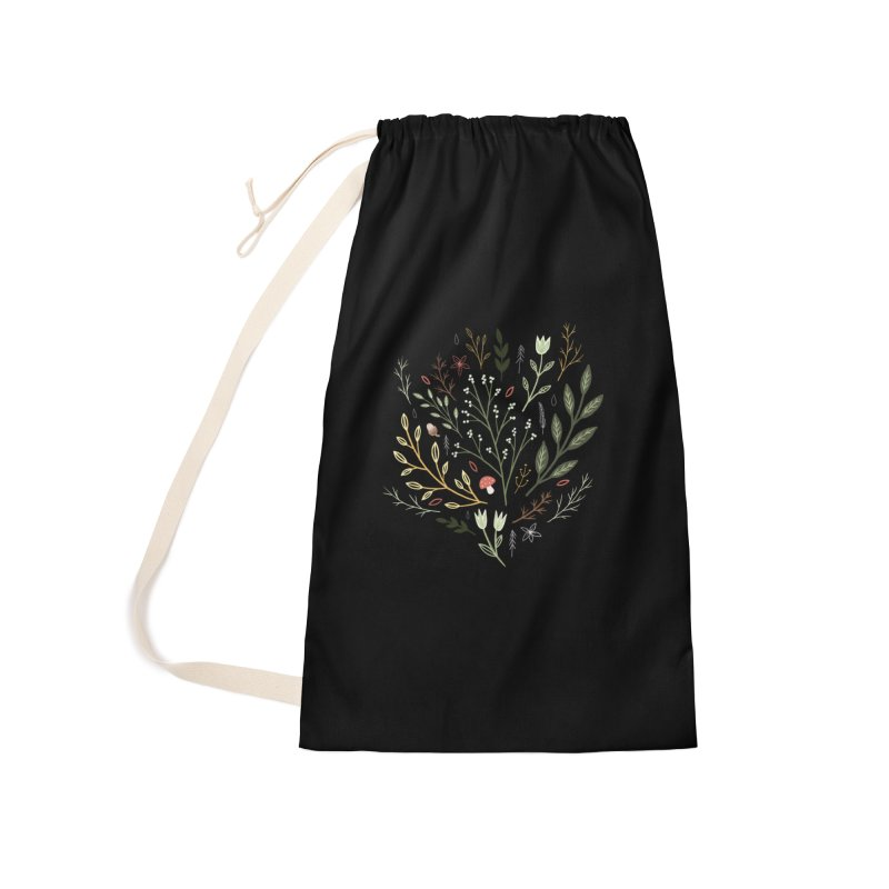 Woodland Walk Accessories Laundry Bag Bag by Thistle Moon Artist Shop