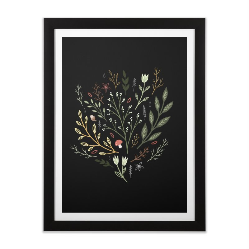 Woodland Walk Home Framed Fine Art Print by Thistle Moon Artist Shop