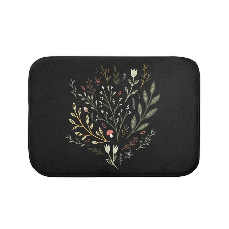 Woodland Walk Home Bath Mat by Thistle Moon Artist Shop