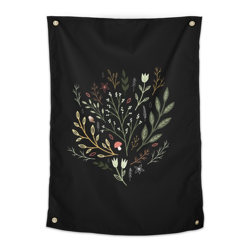 Woodland Walk Home Tapestry by Thistle Moon Artist Shop