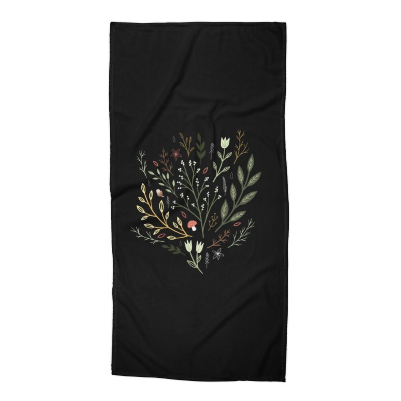 Woodland Walk Accessories Beach Towel by Thistle Moon Artist Shop