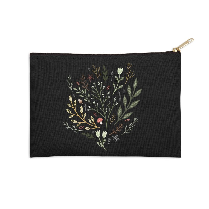 Woodland Walk Accessories Zip Pouch by Thistle Moon Artist Shop