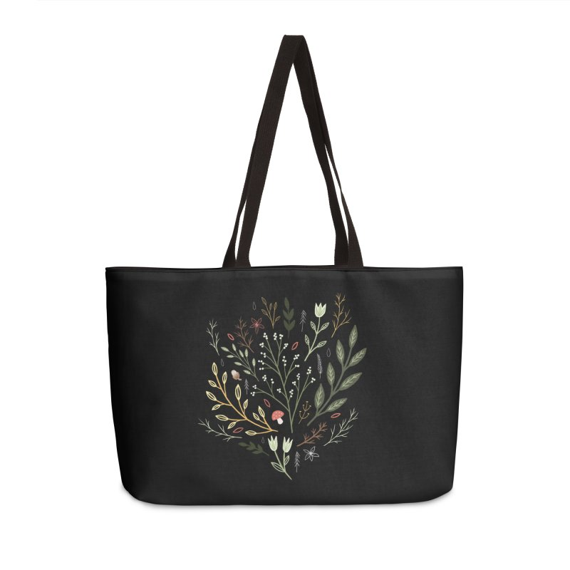 Woodland Walk Accessories Weekender Bag Bag by Thistle Moon Artist Shop