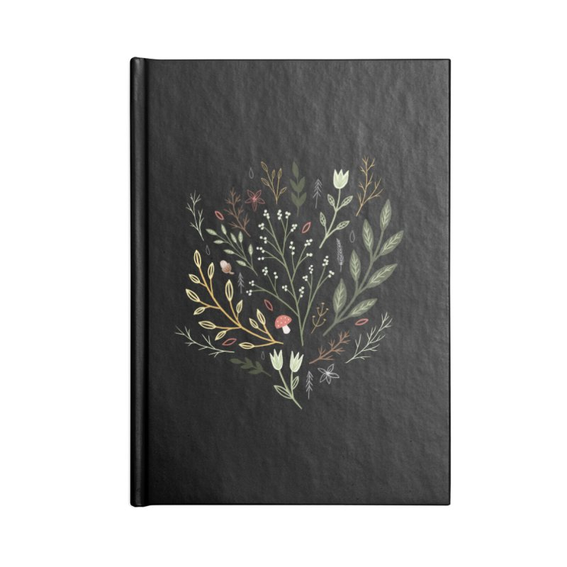 Woodland Walk Accessories Lined Journal Notebook by Thistle Moon Artist Shop