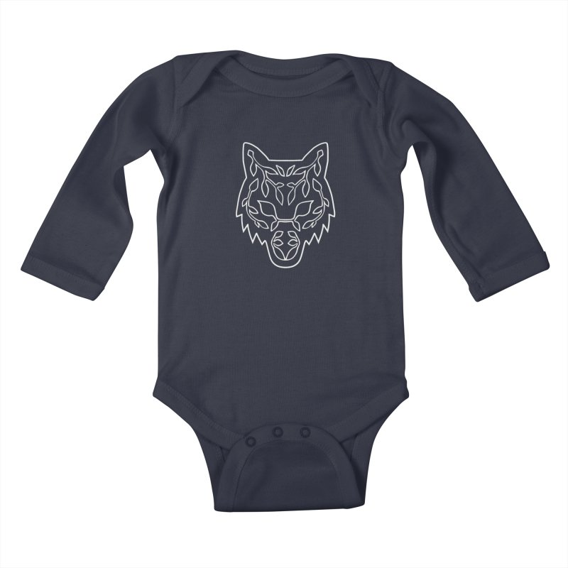 Lupine Kids Baby Longsleeve Bodysuit by Thistle Moon Artist Shop