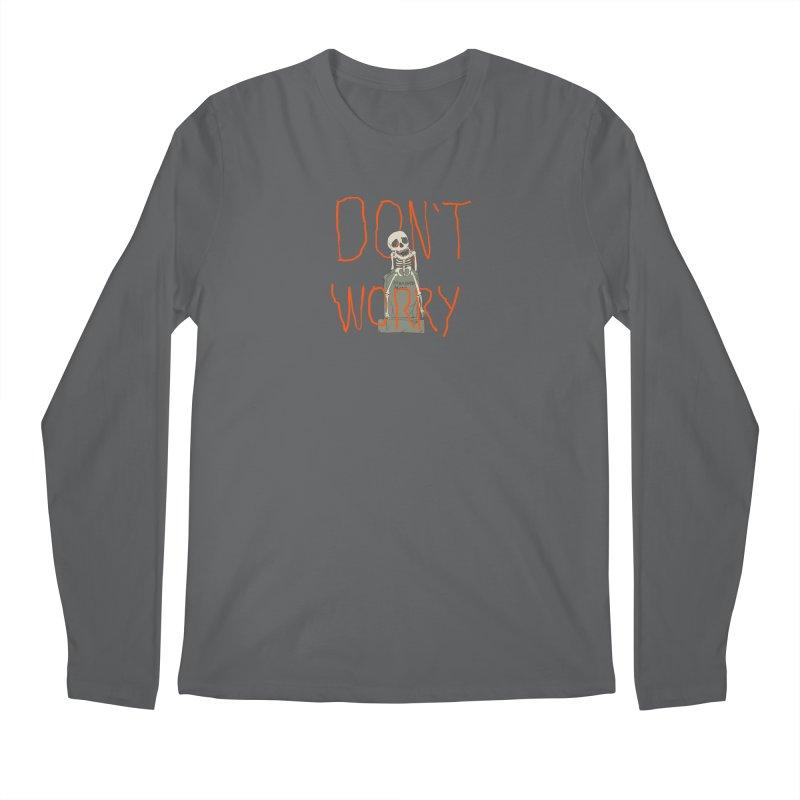 DON'T WORRY. Men's Regular Longsleeve T-Shirt by thomaskeedesign's Artist Shop