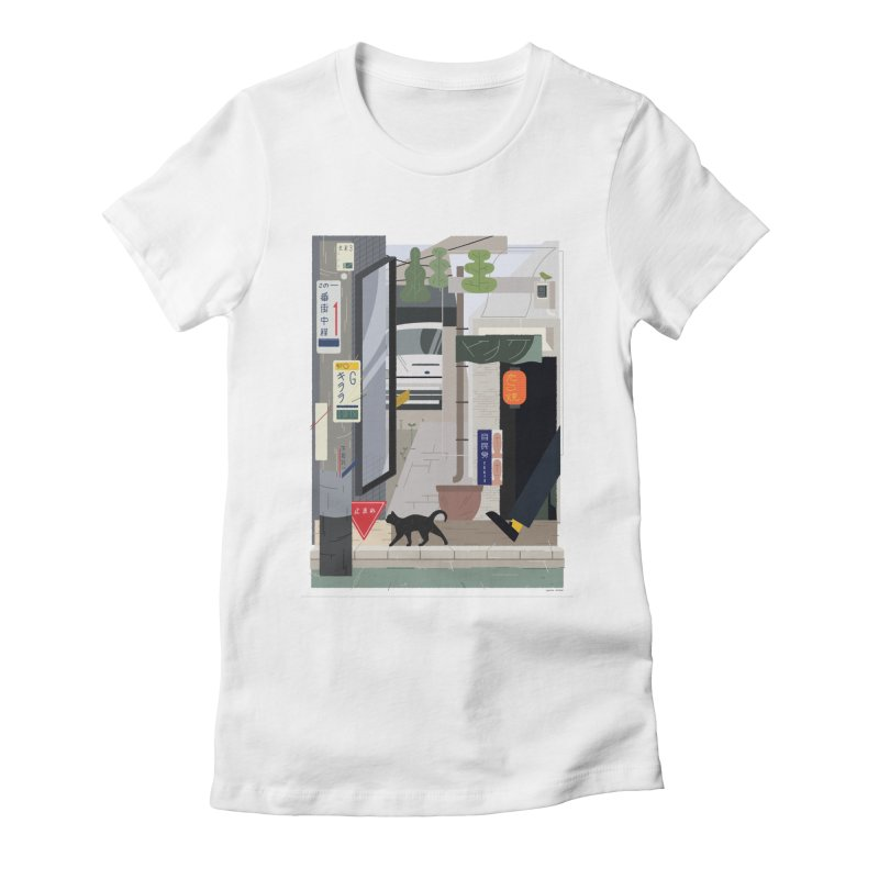 Japan Still Life 001 | 下北沢 Women's Fitted T-Shirt by TK's Shop