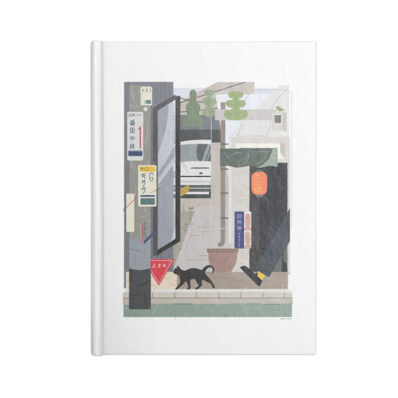 Japan Still Life 001 | 下北沢 Accessories Lined Journal Notebook by TK's Shop