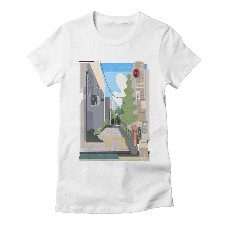 Japan Still Life 003 | 路地 Women's Fitted T-Shirt by TK's Shop