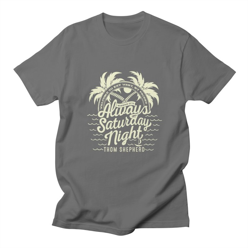 Always Saturday Night - Cream logo Men's T-Shirt by Thom and Coley's Artist Shop