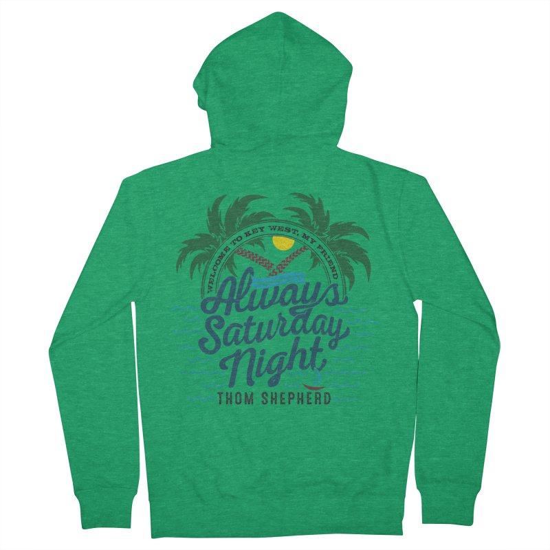 Always Saturday Night - full color Men's Zip-Up Hoody by Thom and Coley's Artist Shop