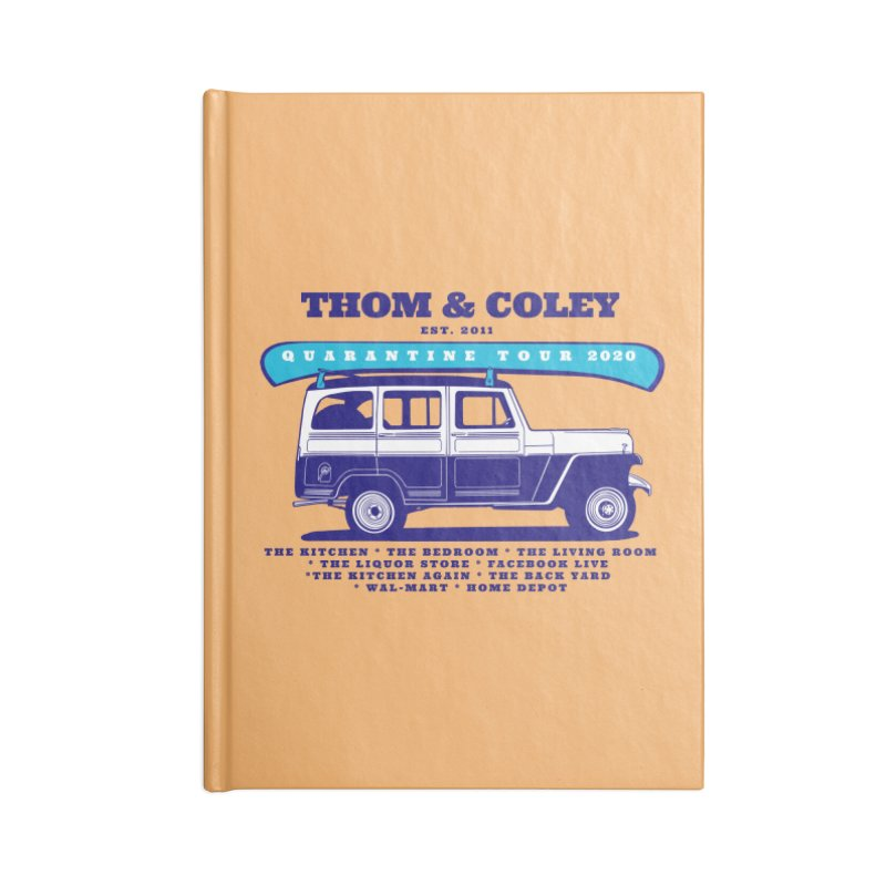 Quarantine Tour Accessories Notebook by Thom and Coley's Artist Shop