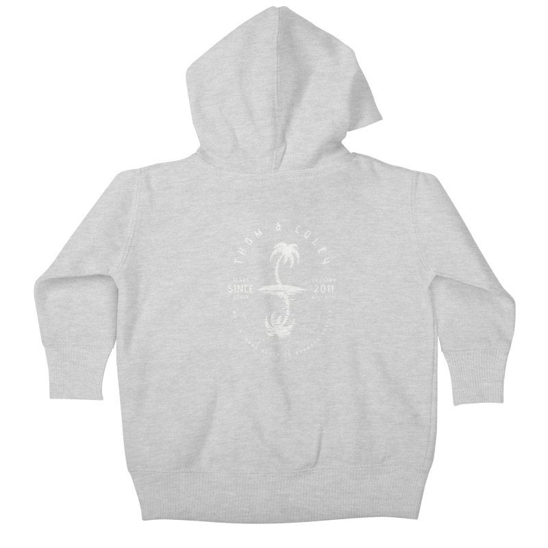 Thom & Coley Palm Tree Kids Baby Zip-Up Hoody by Thom and Coley's Artist Shop
