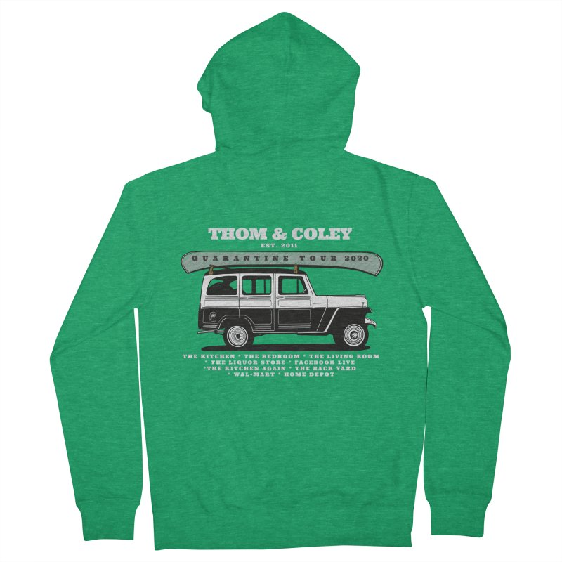 Thom & Coley Quarantine Tour Men's Zip-Up Hoody by Thom and Coley's Artist Shop