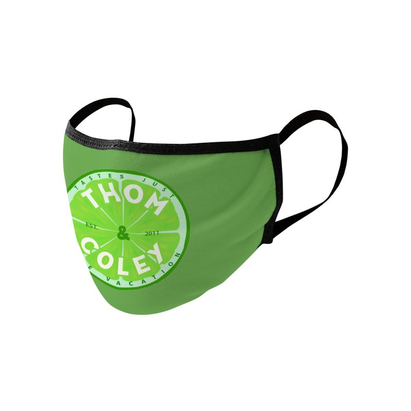 Thom & Coley Lime Accessories Face Mask by Thom and Coley's Artist Shop