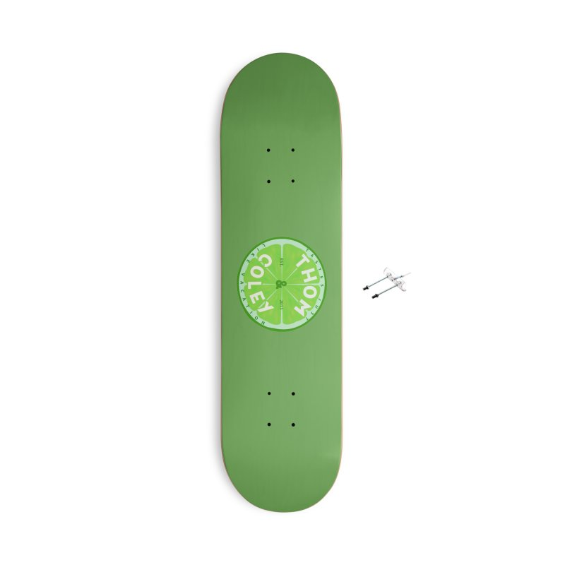 Thom & Coley Lime Accessories Skateboard by Thom and Coley's Artist Shop