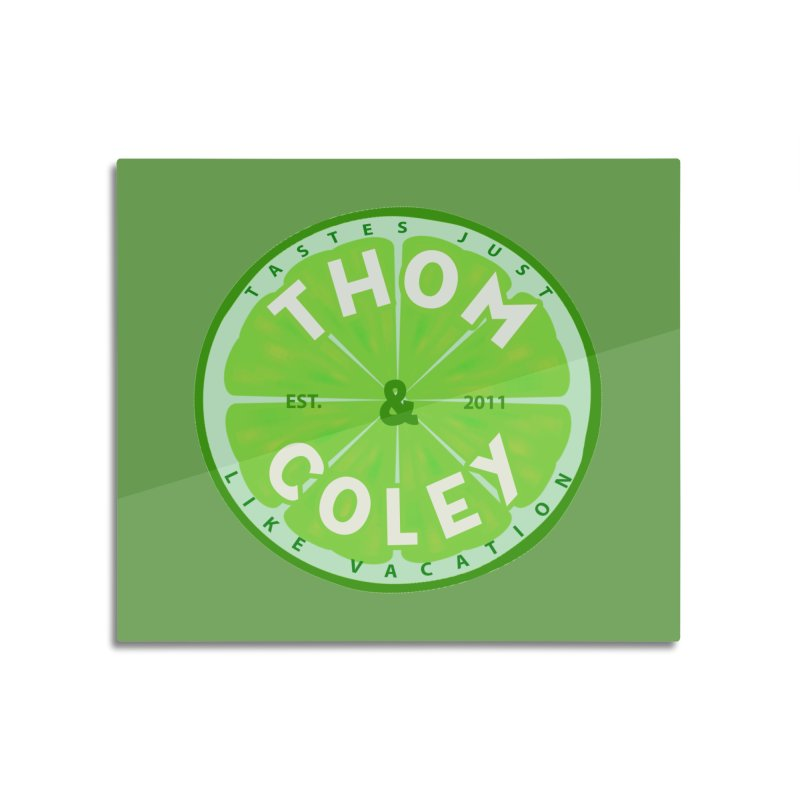 Thom & Coley Lime Home Mounted Aluminum Print by Thom and Coley's Artist Shop