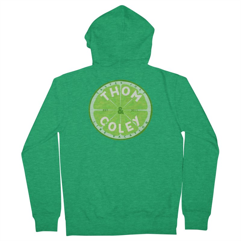 Thom & Coley Lime Men's Zip-Up Hoody by Thom and Coley's Artist Shop