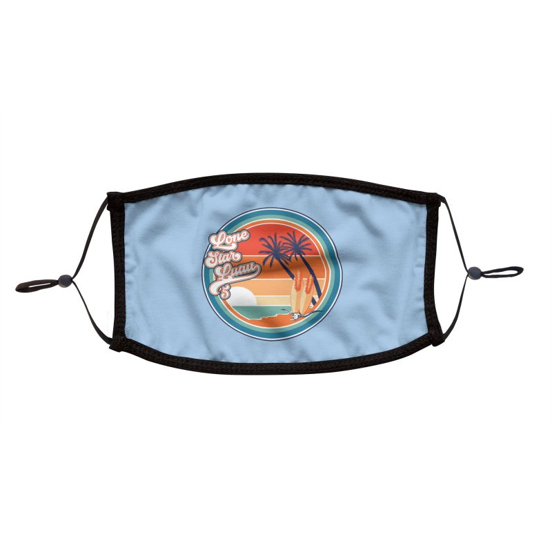 Lone Star Luau Retro Accessories Face Mask by Thom and Coley's Artist Shop