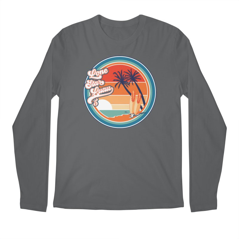 Lone Star Luau Retro Men's Longsleeve T-Shirt by Thom and Coley's Artist Shop