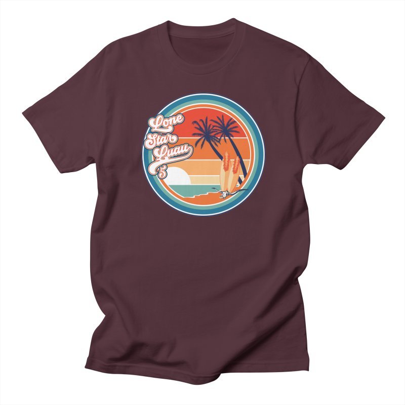 Lone Star Luau Retro Men's T-Shirt by Thom and Coley's Artist Shop