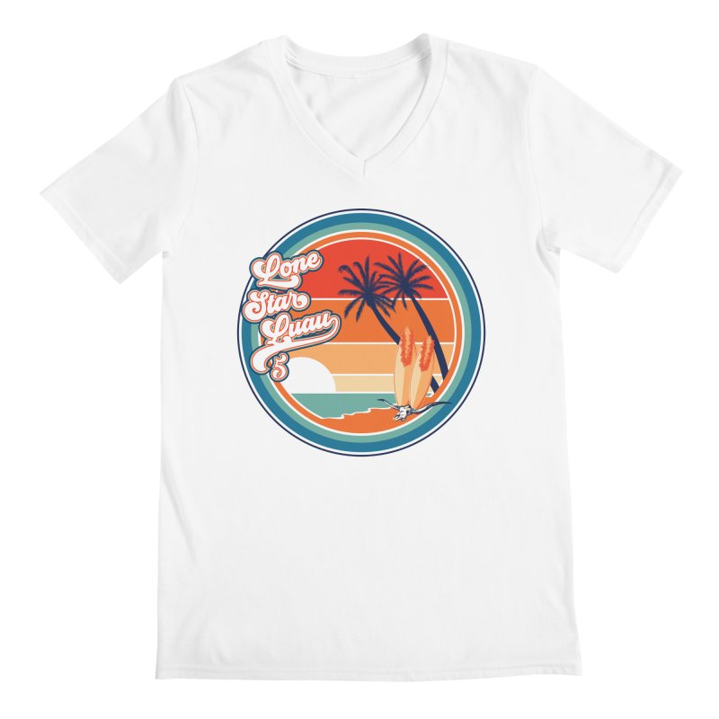 Lone Star Luau Retro Men's V-Neck by Thom and Coley's Artist Shop