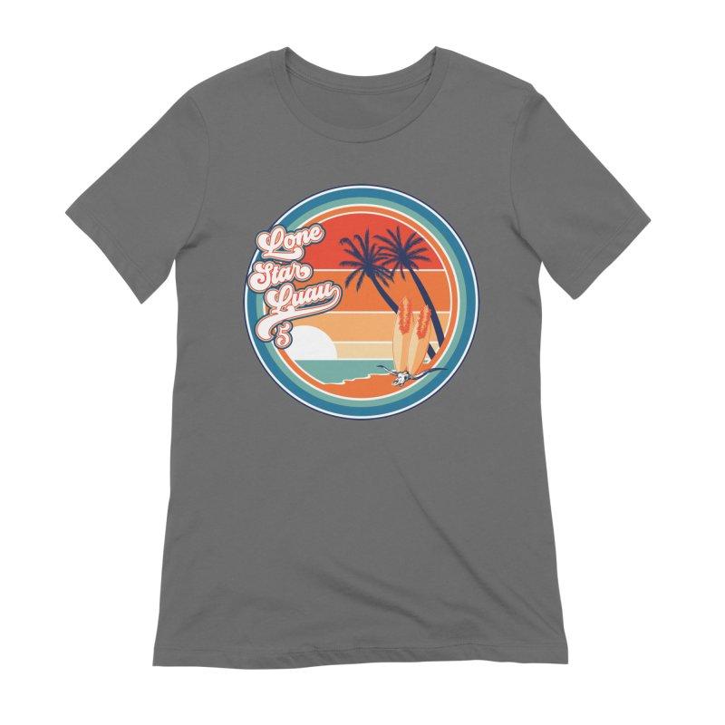 Lone Star Luau Retro Women's T-Shirt by Thom and Coley's Artist Shop