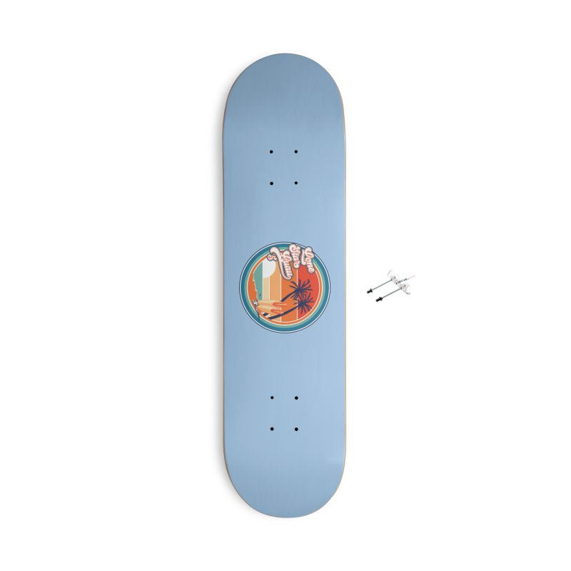 Lone Star Luau Retro Accessories Skateboard by Thom and Coley's Artist Shop
