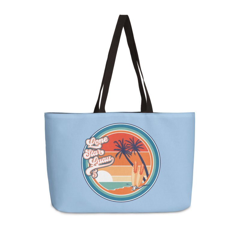 Lone Star Luau Retro Accessories Bag by Thom and Coley's Artist Shop