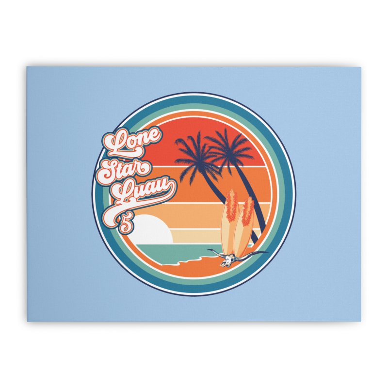 Lone Star Luau Retro Home Stretched Canvas by Thom and Coley's Artist Shop