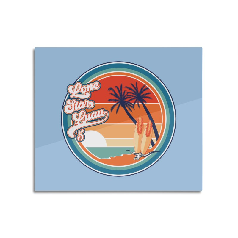 Lone Star Luau Retro Home Mounted Aluminum Print by Thom and Coley's Artist Shop