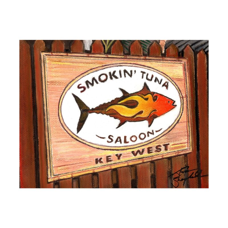 Smokin' Tuna Home Mounted Aluminum Print by Thom and Coley's Artist Shop