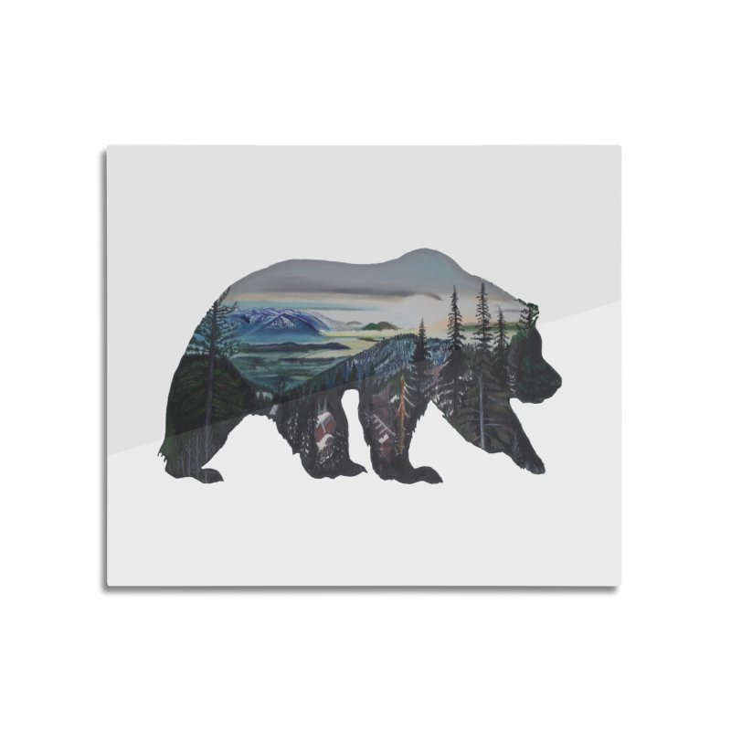 Bear Sunrise Home Mounted Aluminum Print by Thom and Coley's Artist Shop