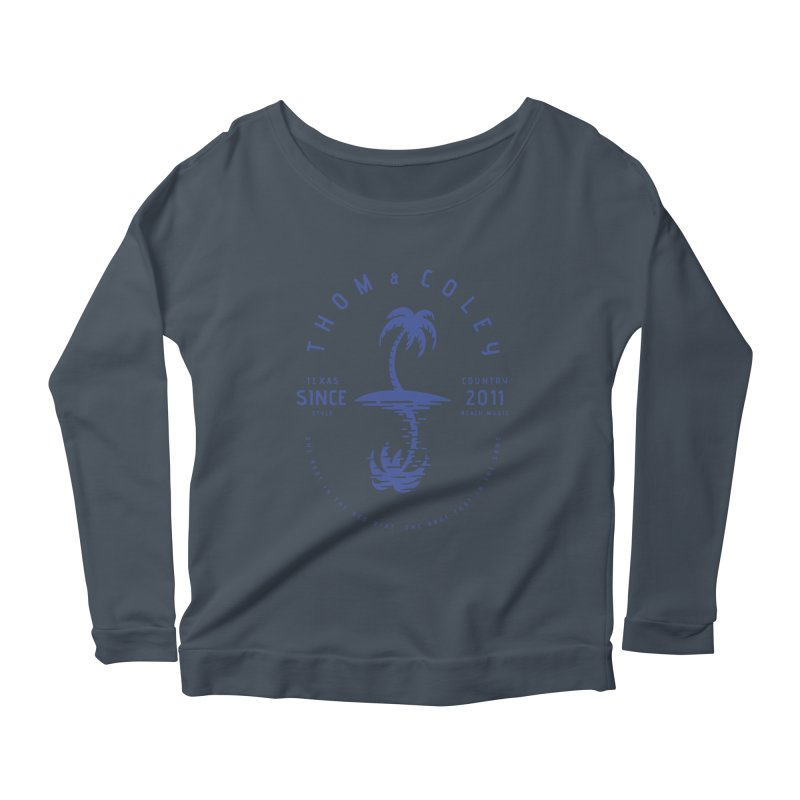 TC Palm Tree Reflection Blue Women's Longsleeve T-Shirt by Thom and Coley's Artist Shop