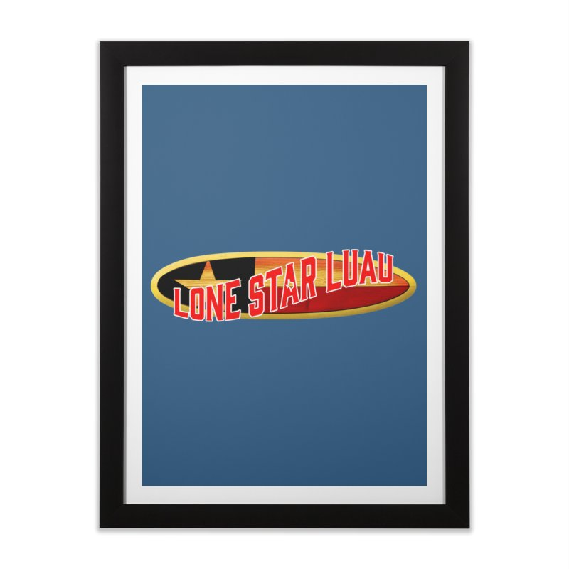 Lone Star Luau Surfboard Home Framed Fine Art Print by Thom and Coley's Artist Shop