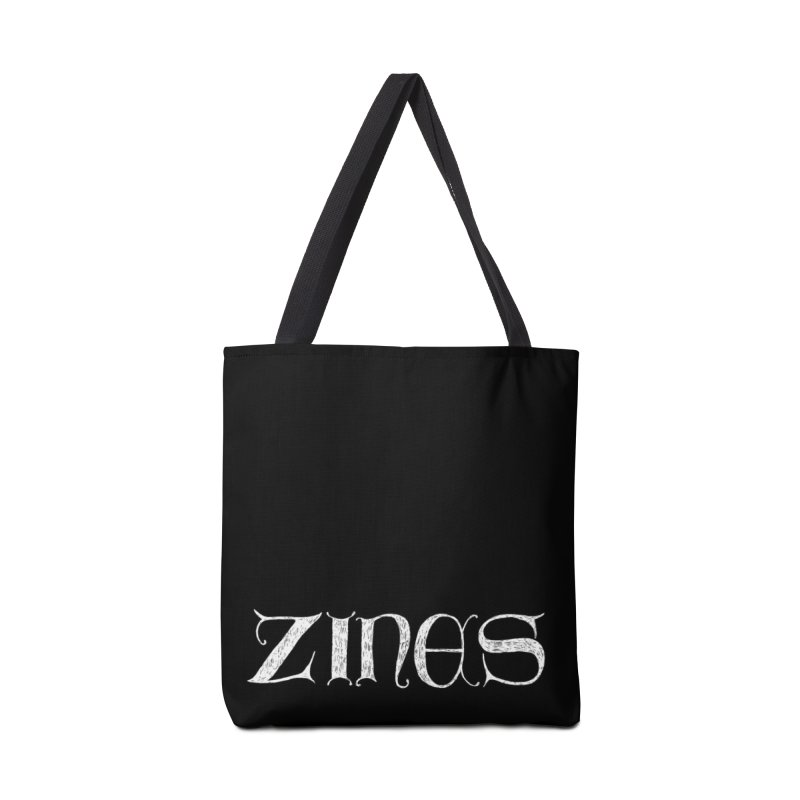 Ye Olde Zines (white ink) Accessories Bag by SHOP THORAZOS TSHIRTS