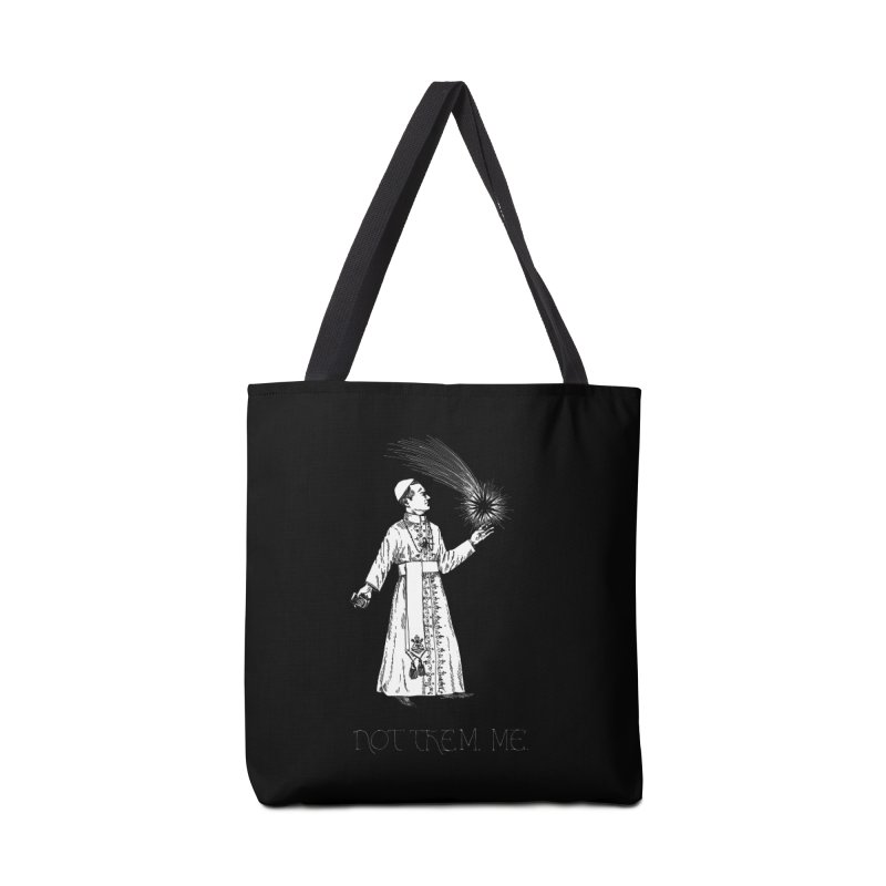 Not Them, Me (white ink) Accessories Bag by SHOP THORAZOS TSHIRTS