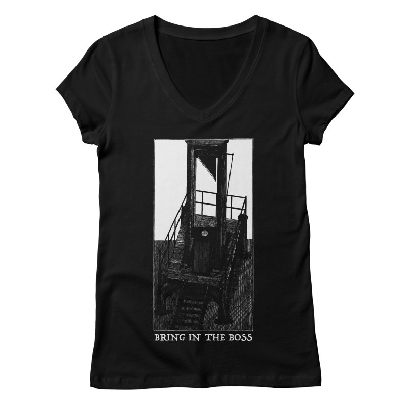 Bring In The Boss Women's V-Neck by SHOP THORAZOS TSHIRTS
