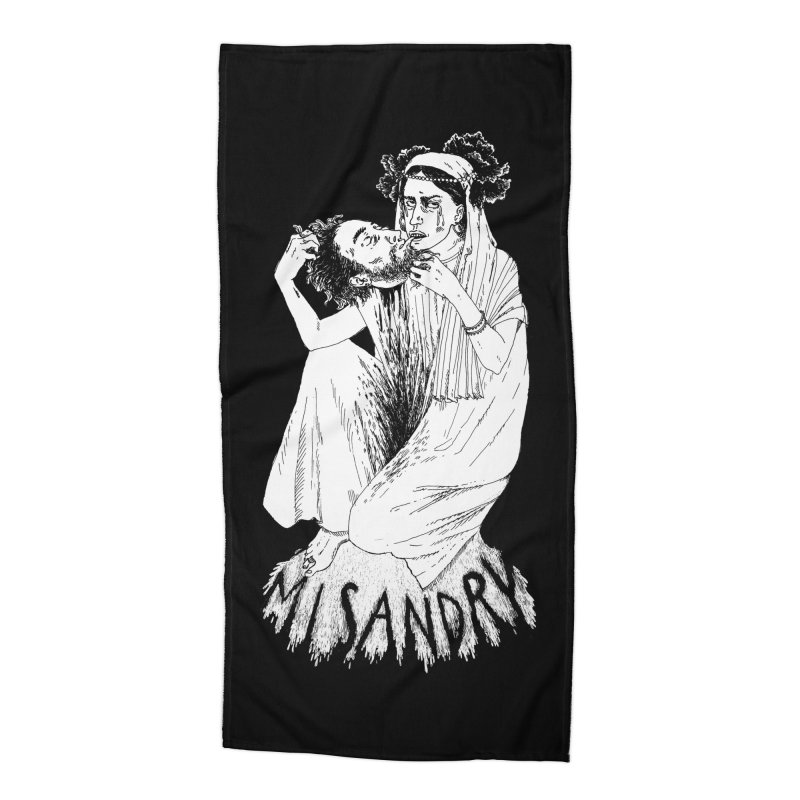 Misandry Accessories Beach Towel by SHOP THORAZOS TSHIRTS