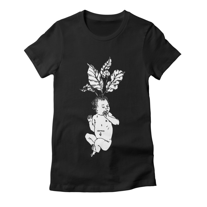 Baby Mandrake Women's Fitted T-Shirt by SHOP THORAZOS TSHIRTS