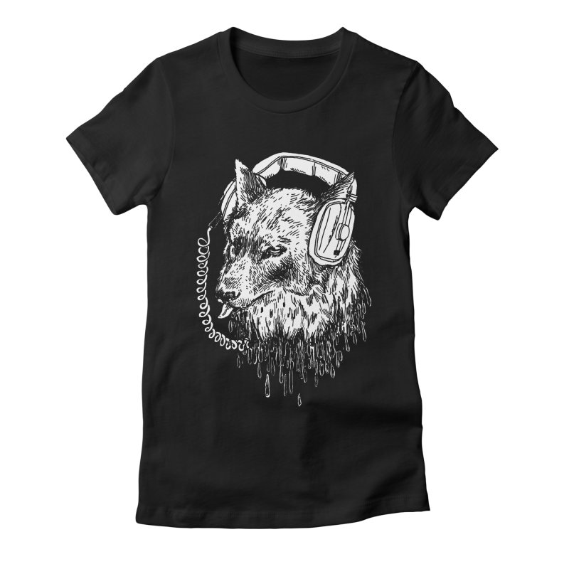 Boiled Leather Audio Hour Women's Fitted T-Shirt by SHOP THORAZOS TSHIRTS