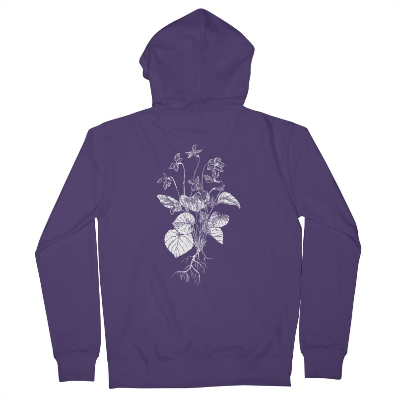 Common Blue Violets Women's French Terry Zip-Up Hoody by SHOP THORAZOS TSHIRTS