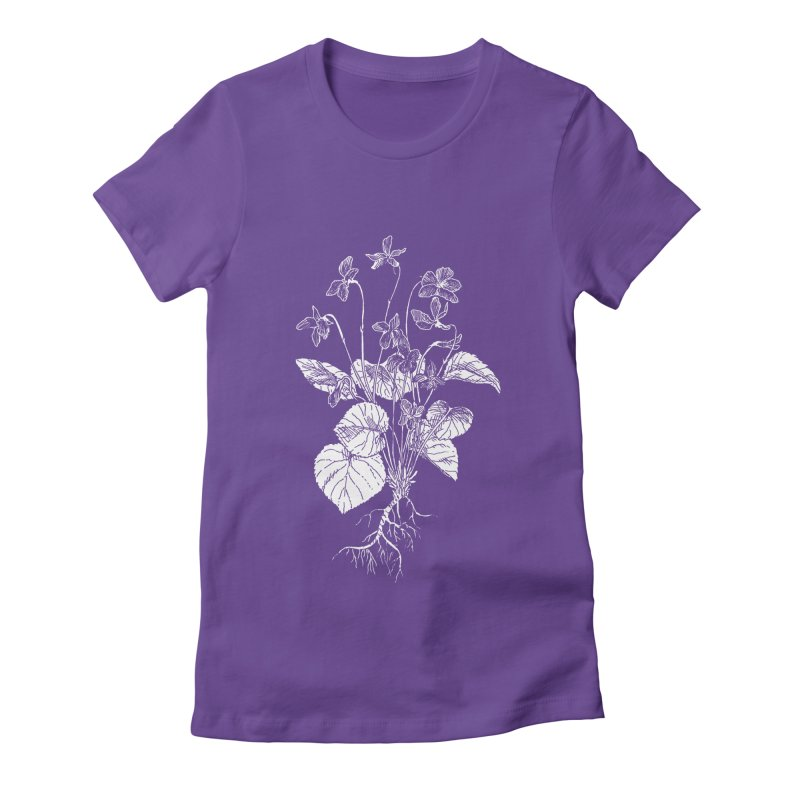Common Blue Violets Women's Fitted T-Shirt by SHOP THORAZOS TSHIRTS