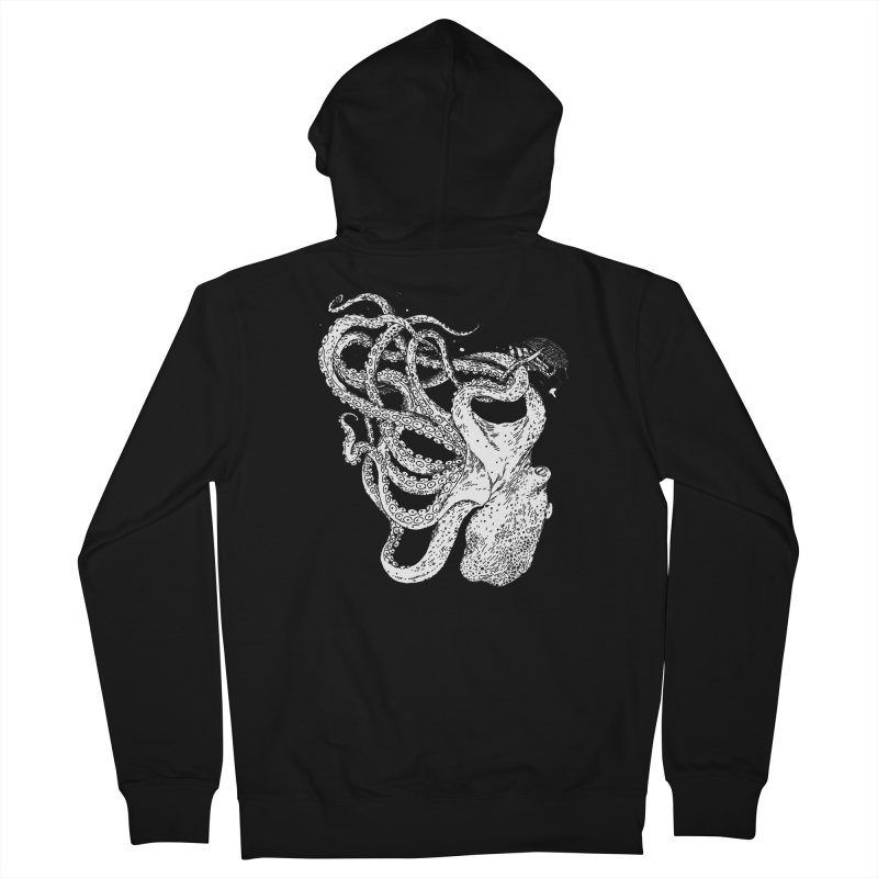 Sea Monster Women's French Terry Zip-Up Hoody by SHOP THORAZOS TSHIRTS