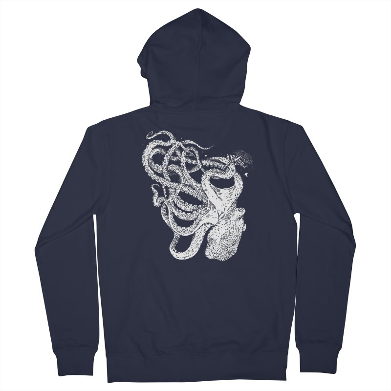 Sea Monster Men's French Terry Zip-Up Hoody by SHOP THORAZOS TSHIRTS