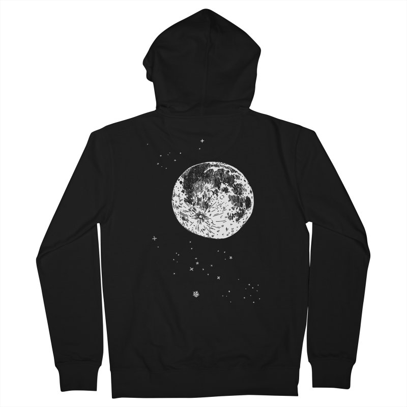 Full Moon Men's Zip-Up Hoody by SHOP THORAZOS TSHIRTS