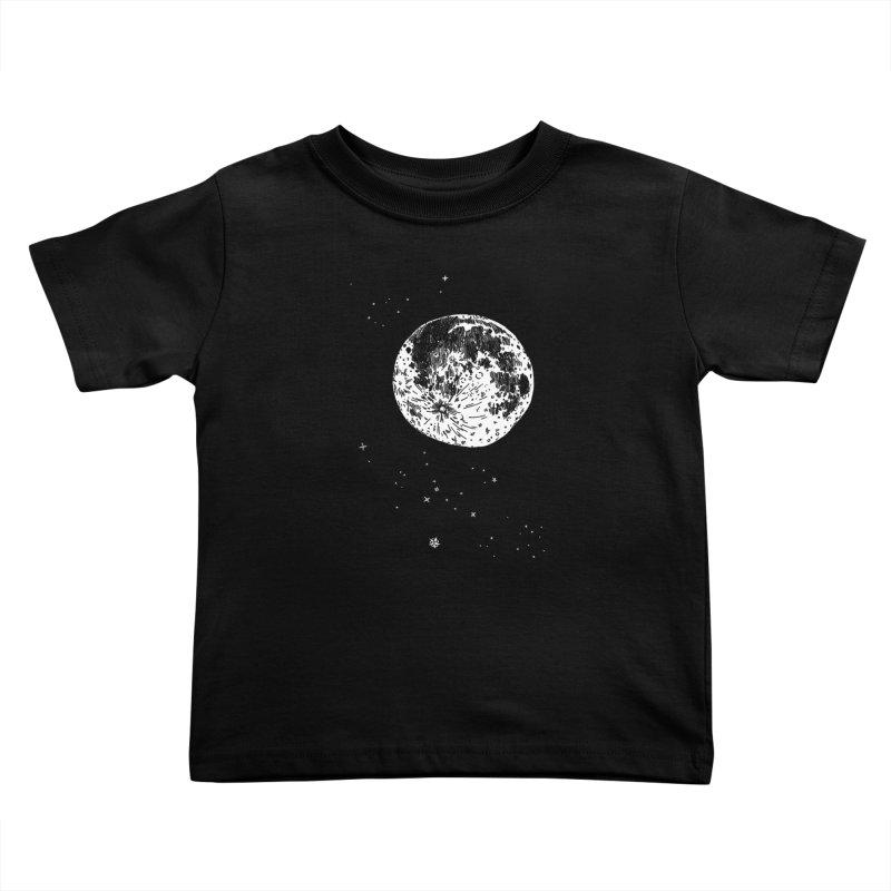 Full Moon Kids Toddler T-Shirt by SHOP THORAZOS TSHIRTS